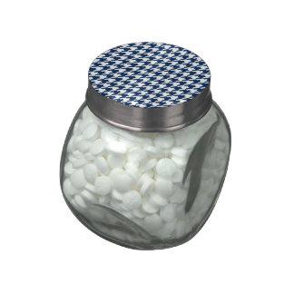 medianoche del houndstooth (i) jarrones de cristal