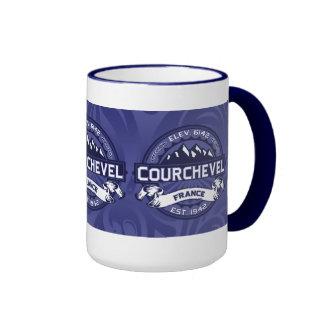 Medianoche del logotipo de Courchevel Tazas De Café