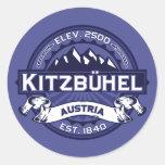 Medianoche del logotipo de Kitzbühel Pegatina Redonda