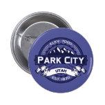 Medianoche del logotipo de Park City Pin Redondo De 2 Pulgadas