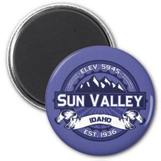 Medianoche del logotipo de Sun Valley Imán Redondo 5 Cm