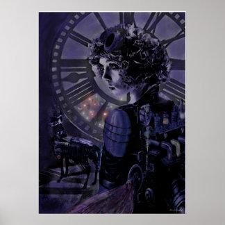 medianoche del steampunk poster