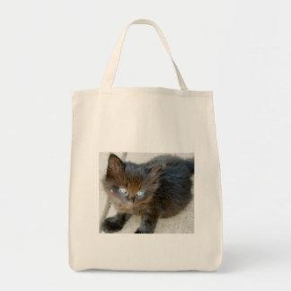 Medianoche el gatito bolsa de mano