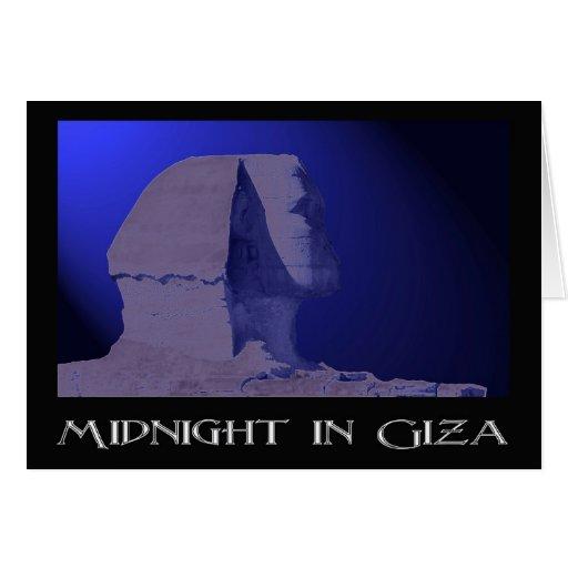 Medianoche en tarjeta de felicitación de Giza