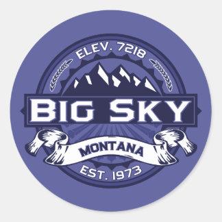 Medianoche grande del logotipo del cielo pegatinas redondas