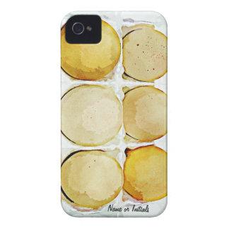 Medias docenas huevos de Brown Funda Para iPhone 4