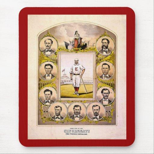 Medias rojas de Cincinnati de 1869 Alfombrillas De Ratones