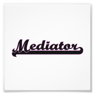 Mediator Classic Job Design Photo Print