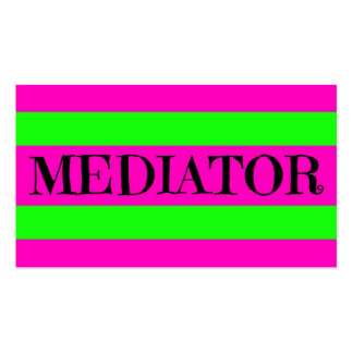 Mediator Neon Green and Hot Pink Business Card