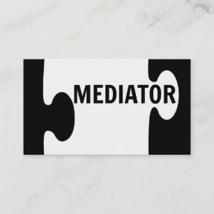 Mediation business cards templates zazzle mediator puzzle piece business card colourmoves