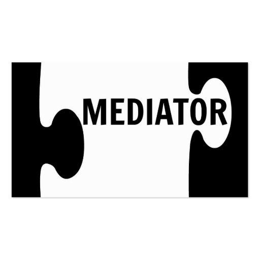 Mediator business card templates bizcardstudio mediator puzzle piece business card colourmoves