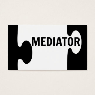 Mediator Puzzle Piece Business Card