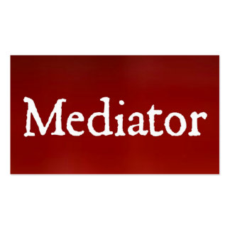 Mediator Red Business Card