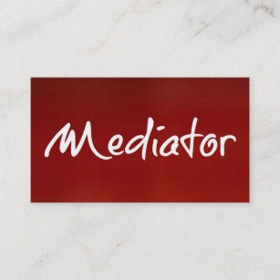Mediation business cards templates zazzle mediator red business card colourmoves