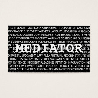 Mediator Words Business Card