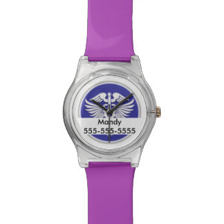 Medic alert emergency contact | Personalize Wrist Watch