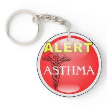 Medic Alert Emergency Keychain- ASTHMA Keychain