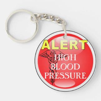 Medic Alert Emergency Keychain- Blood Pressure Keychain