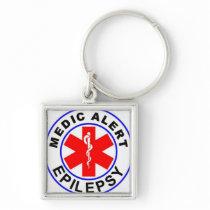 Medic alert epilepsy keychain