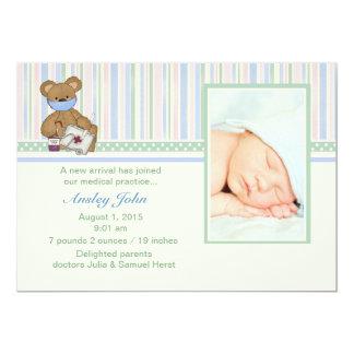 Medic Bear - Photo Birth Announcement