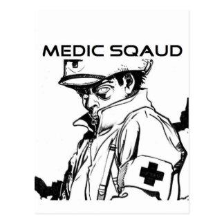 medic squad postcard