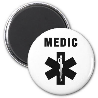 Medic Star of Life 2 Inch Round Magnet
