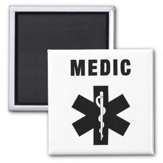 Medic Star of Life 2 Inch Square Magnet