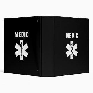 Medic Star of Life 3 Ring Binder