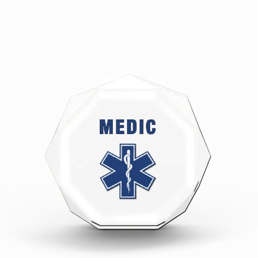 Medic Star Of Life Acrylic Award