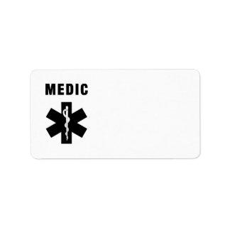 Medic Star of Life Address Label