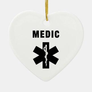 Medic Star of Life Ceramic Ornament