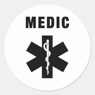 Medic Star of Life Classic Round Sticker