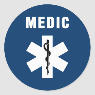 Medic Star of Life Classic Round Sticker