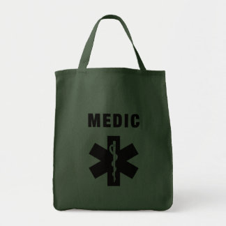 Medic Star of Life Grocery Tote Bag