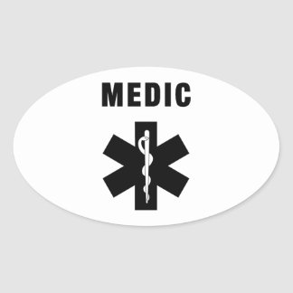 Medic Star of Life Oval Sticker