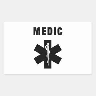 Medic Star of Life Rectangular Sticker