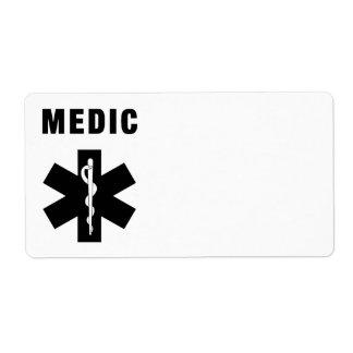 Medic Star of Life Shipping Label