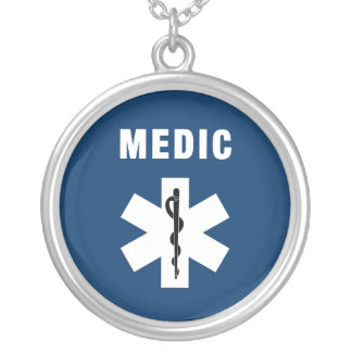 Medic Star of Life Silver Plated Necklace