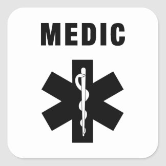 Medic Star of Life Square Sticker