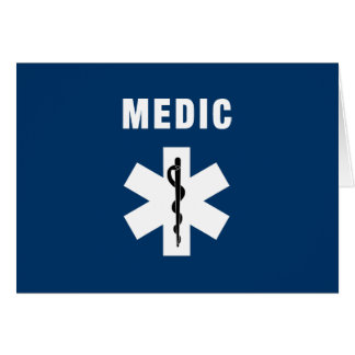 Medic Star of Life Stationery Note Card