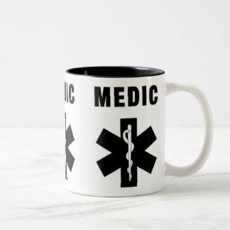 Medic Star of Life Two-Tone Coffee Mug