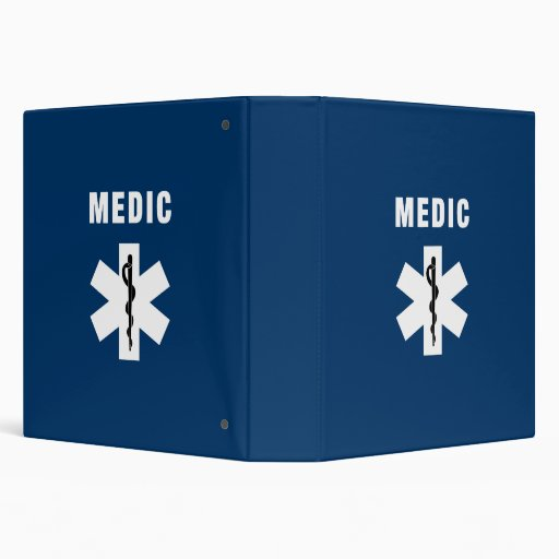 Medic Star of Life Vinyl Binder