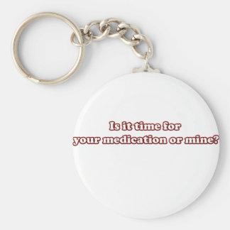 medicación llavero redondo tipo pin
