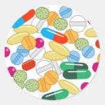 Medicación Pegatina Redonda