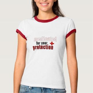 Medicado para su camiseta roja del campanero de la