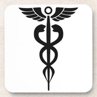 medical2006 BLACK MEDICAL SYMBOL HEALTH Beverage Coasters
