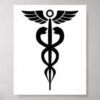medical2006 BLACK MEDICAL SYMBOL HEALTH Poster