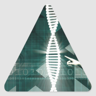 Medical Abstract Background of a Futuristic Scienc Triangle Sticker