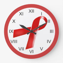 Medical aids awareness roman numerals large clock