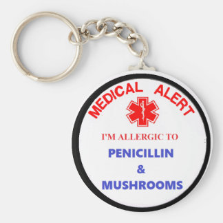 medical alert drug allergy keychain